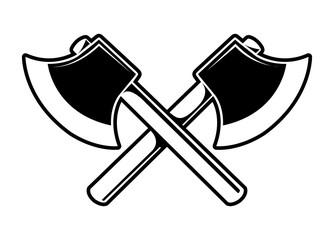 cartoon crossed axes illustration