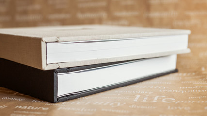 Two Photobooks with a wooden cover