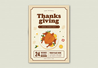 Thanksgiving Dinner Party Flyer Layout