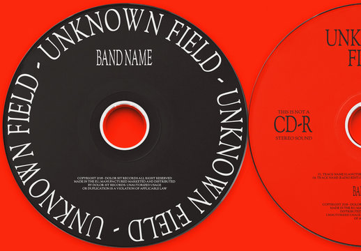 Red and Black CD Layouts