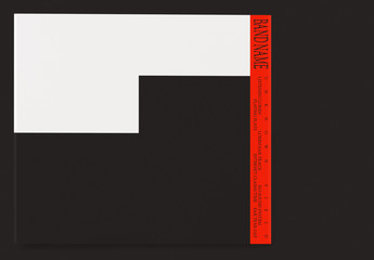 Red and Black Colorblock CD Art Layouts for Digipak