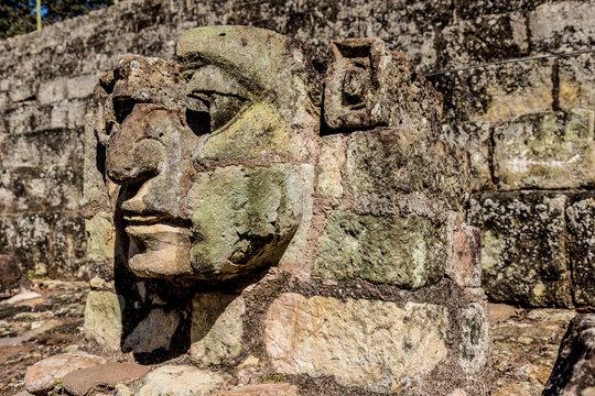 A typical view at Copan Ruins in Honduras.