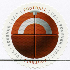USA - 2017: shows Football ball, series Have a Ball
