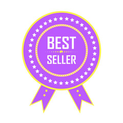 Best Seller Badge, Best Seller icon, Best seller vector, best seller logo