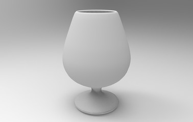 3D rendering of wine glasses
