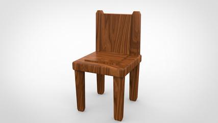 Wooden Chair 3d render