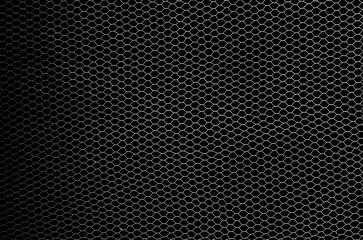fishing net  isolated on black background