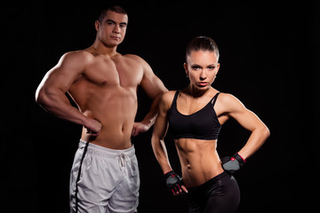 Young sports couple.