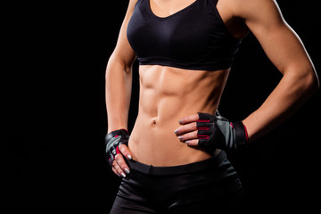 Attractive lady's fit abdominal.
