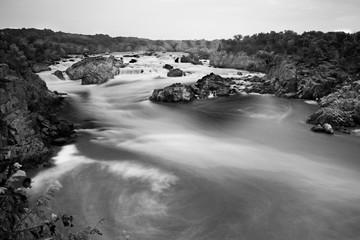 Long exposure of Potomac River overlook
