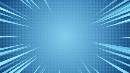 Radial Background of halftones and high-speed abstract lines for Anime 3d illustration