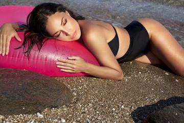 bikini beauty and sun tan