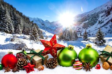 Weihnachtsmotiv Berge