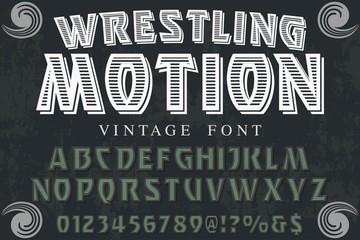 Classic vintage decorative font label design