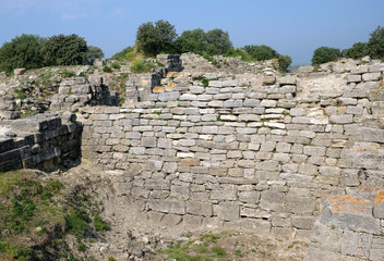 Walls of the ancient city of Troy