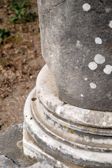 a column detail from the ancient city of Troy
