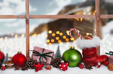 christmas card romantic night