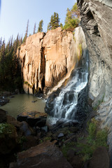 Rainbow in South Clear Creek Falls,  Rio Grande National Forest,  Colorado, US