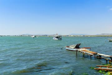 Izmir, Turkey, 26 May 2008: Boats at Izmir Bird paradise