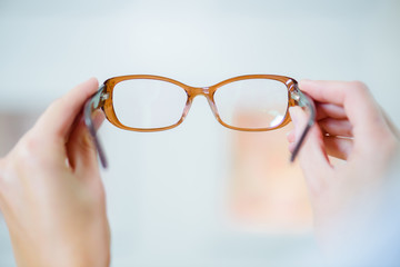 the fashionable eyeglasses