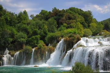 Wodospad Skradinski Buk w Parku Narodowym Krka w Chorwacji.