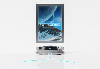 Futuristic Billboard Projector Mockup