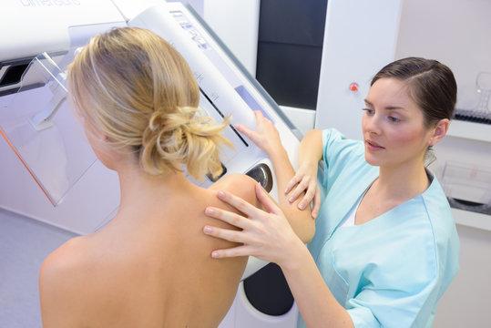 having a mammogram examination