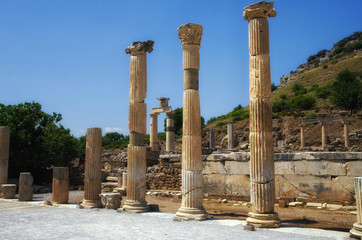 Ruins of Ephesus Ancient City in Turkey
