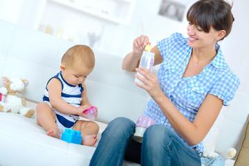 preparing the baby formula