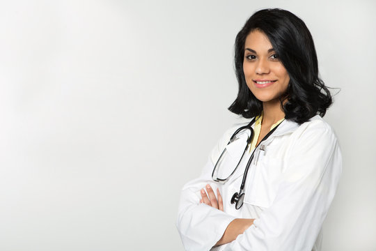 Diverse and empowered doctor ready for work.