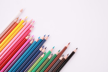 Pencil Colour isolated on white background