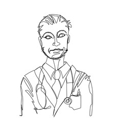 Doctor.  Drawn by a single line