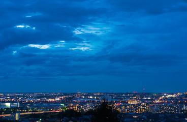 東京・夜景・高台から望む住宅街