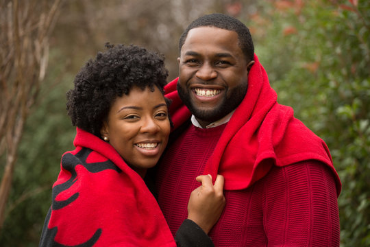 Portrait of an African American loving couple.