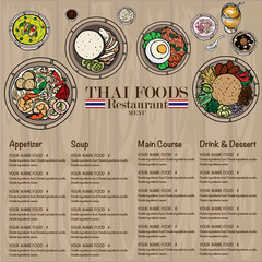 menu thai food design template graphic