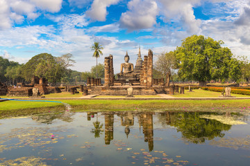 Tuinposter Bedehuis Sukhothai historical park
