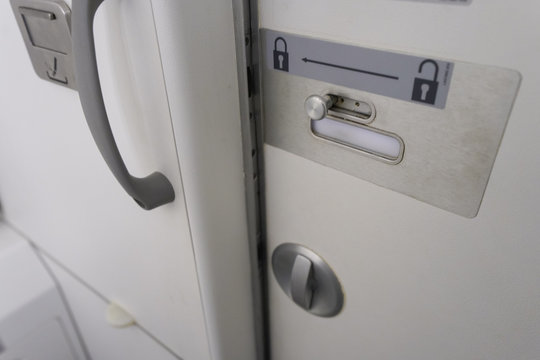 toilet in airplane