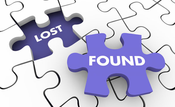 Lost and Found Searching Finding Missing Items Puzzle 3d Illustration