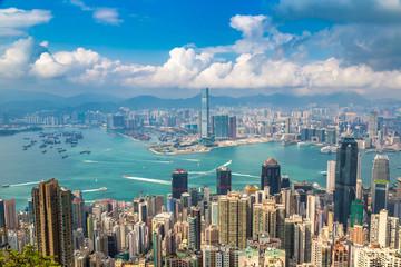 Panoramic view of Hong Kong