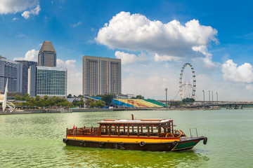 Traditional tourist boats in Singapore