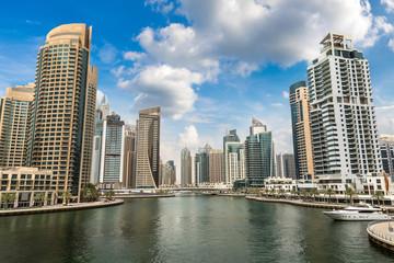 Dubai Marina in a summer day