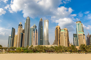 Dubai Marina in a summer day