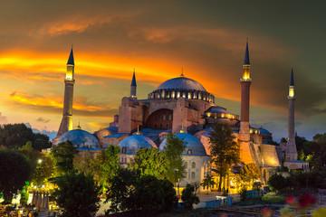 Fototapete - Ayasofya Museum (Hagia Sophia) in Istanbul