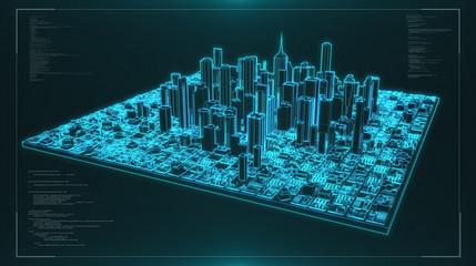 3D futrurisitc city render