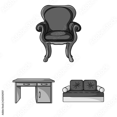 Remarkable Furniture And Interior Monochrome Icons In Set Collection Cjindustries Chair Design For Home Cjindustriesco