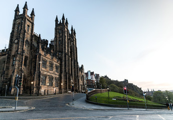 New College University of Edinburgh on a summer day