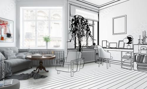 Superb Möbliertes Wohnzimmer (Design)