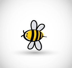 Cute bee vector illustration