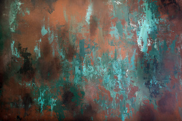 Rusty metal texture, background, design, pattern Wall mural