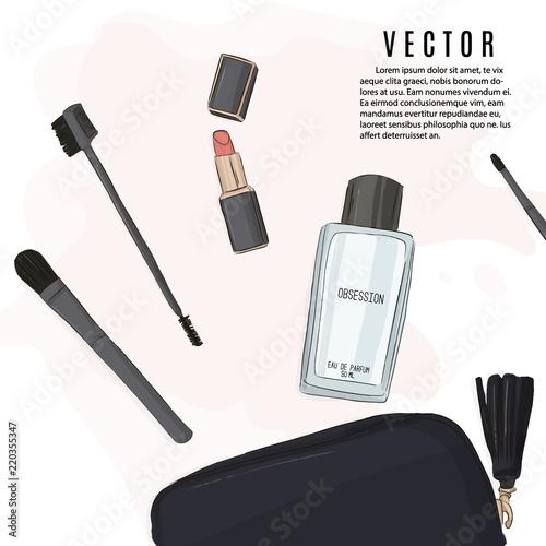 Vector beauty salon business card. Cpsmetic logo design. Female ...